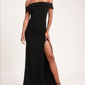 Lulus Black Off-the-Shoulder Dress